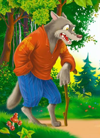 волк и колобок картинки