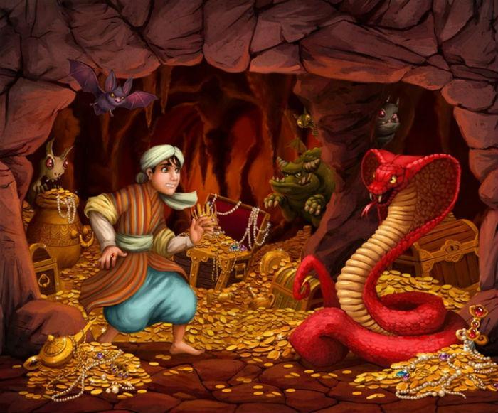 Алладин в пещере