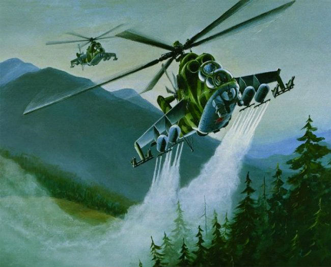 Пазлы с вертолетом
