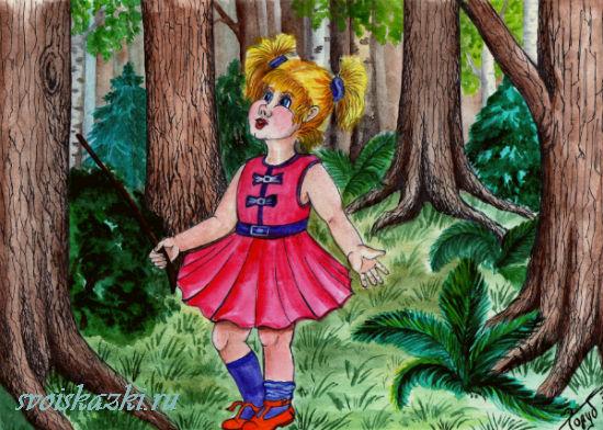 девочка в лесу